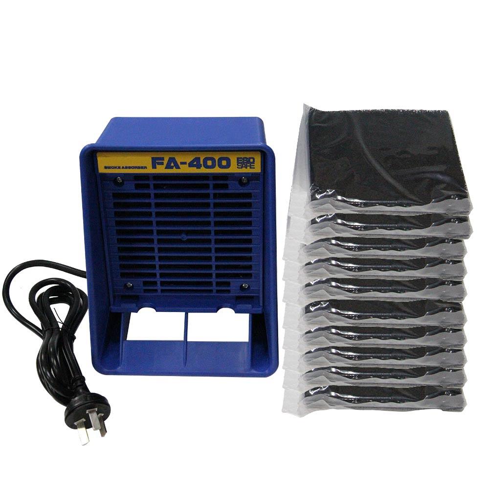 Absorvente de Fumaça de Ferro de Solda Extrator de Fumaça Filtro de Carbono Instrumento de Fumo com 10 Pces Livre Ativado Esponja 220v – 110v Fa-400 Esd