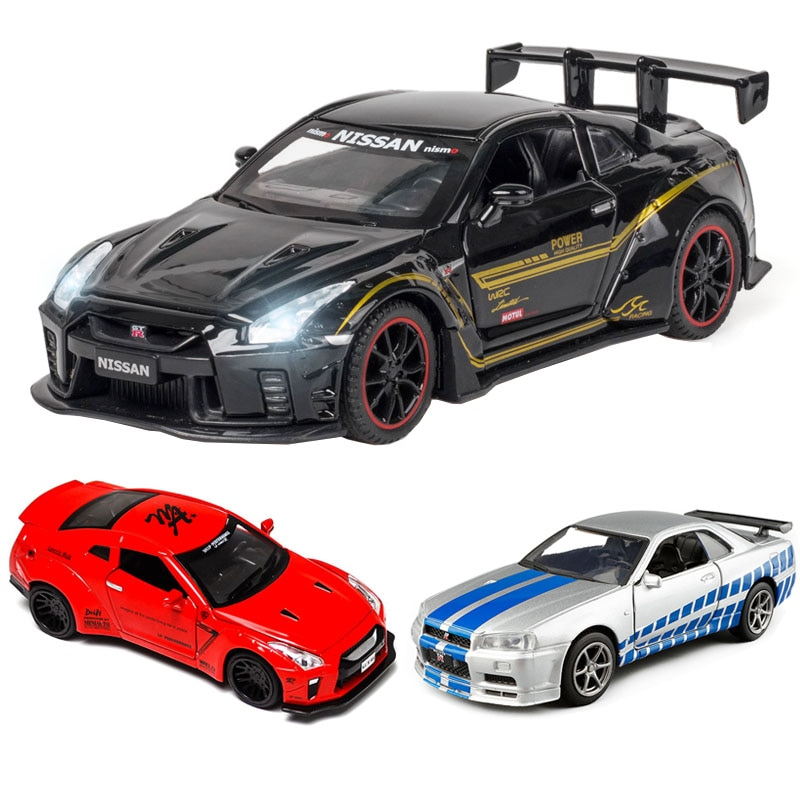 1:32 Nissan-GTR R35 die cast alloy car model supercar Boy gift collectibles Child toy  free shipping