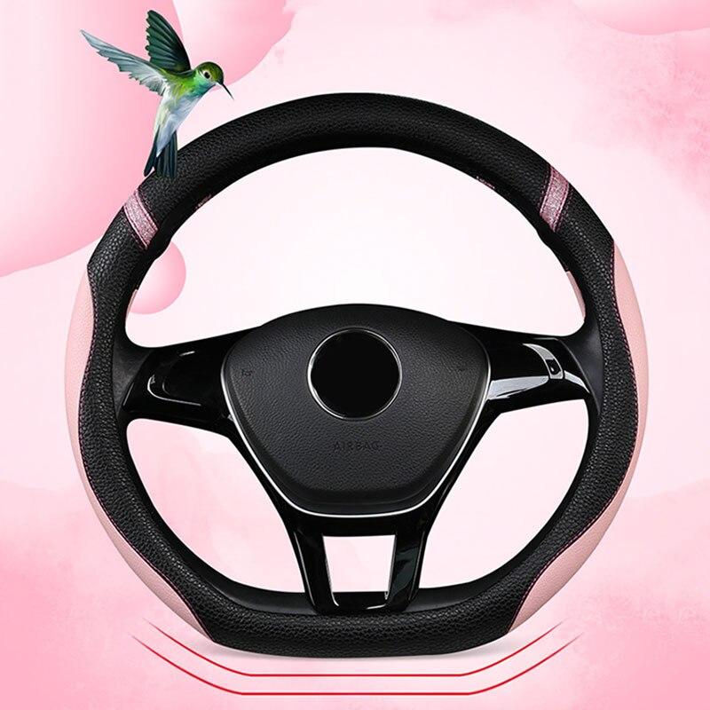 Funda de cuero PU Para Volante de Nissan x-trail 2021, cubierta de estilo de Coche, accesorios Para Interior
