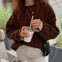 autumn women loose knitted sweater new elegant casual sweater female pullovers fashion solid spring tops