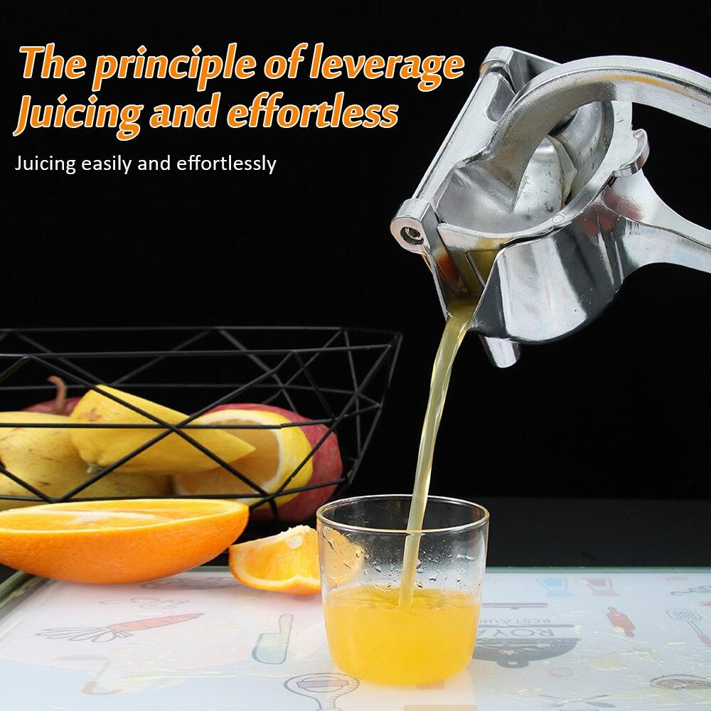عصارة يدوية ، عصارة الفواكه اليدوية ، أداة مطبخ الفاكهة سبائك الألومنيوم عصارة الرمان البرتقال الليمون الليمون عصير قصب السكر