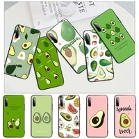 2021 art funny tumblr avocado black rubber mobile phone case cover for honor 7a pro 7c 10i 8a 8x 8s 8 9 10 20 lite