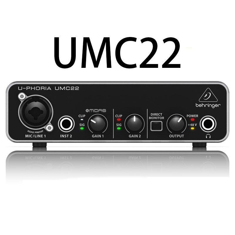 Behringer UM2 audio interface soud card audio recording equipment Guitar Recording External USB for Celebrity Live Broadcast