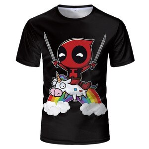 MARVEL  oversized Deadpool Men T shirt Funny Tops DIY photo or logo white top Tee Shirt Homme Hip Hop For marvel Fans shirt 4XL