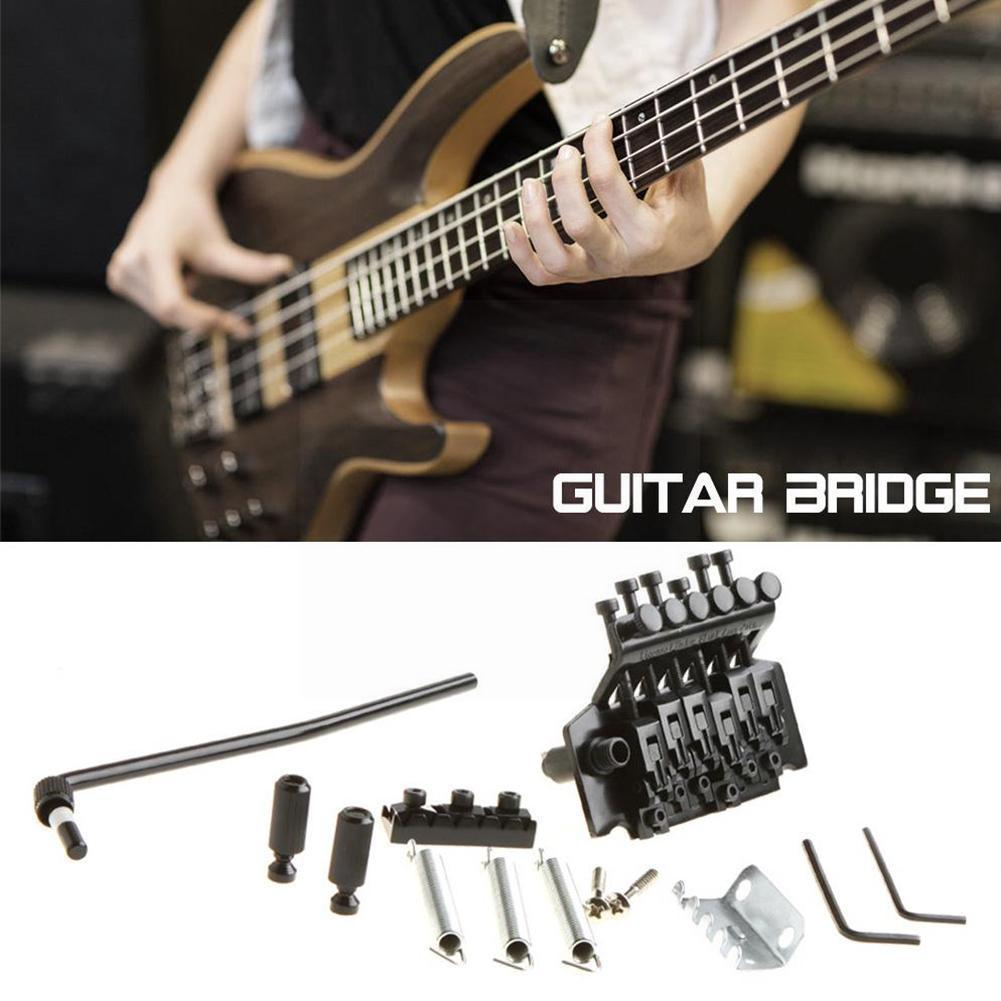 Guitar Bridge Saddle Tailpiece For Electric Guitar Bridge Set Double Tremolo Assembly Bridge System Screws With Tremolo Y7Z2 ootdty guitar tremolo locking nut 3 clamp 3 screws for electric neck