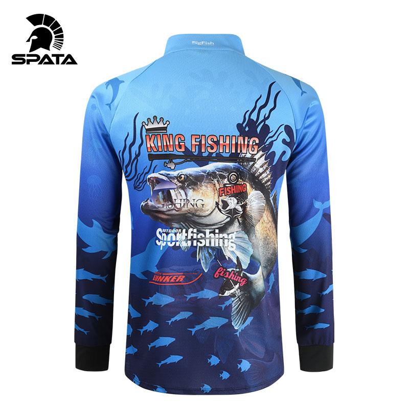 2021 SPATA Kaus Pancing Baru Anti-UV Kaus Pancing Musim Panas Pakaian Memancing Cepat Kering Bersirkulasi Tabir Surya