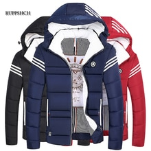 Cotton Jacket Men Autumn and Winter Jackets New Casual Clothing Plus Size Hooded Thick Warm Parka Co