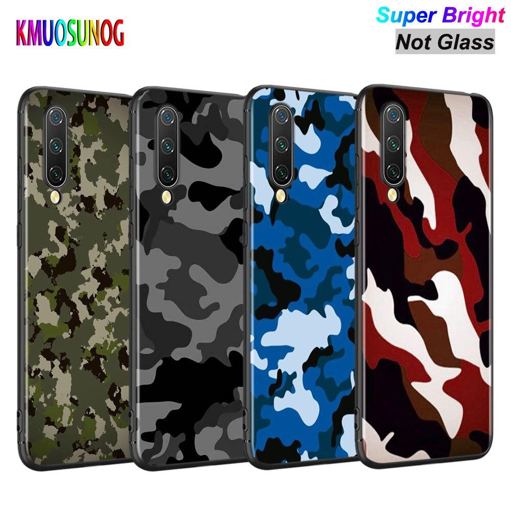 Funda negra de silicona camuflaje Camo Army para Xiaomi mi A3 A1 5X6X6 8 Lite 9 9SE CC9 F1 9T 9TPro jugar al teléfono caso