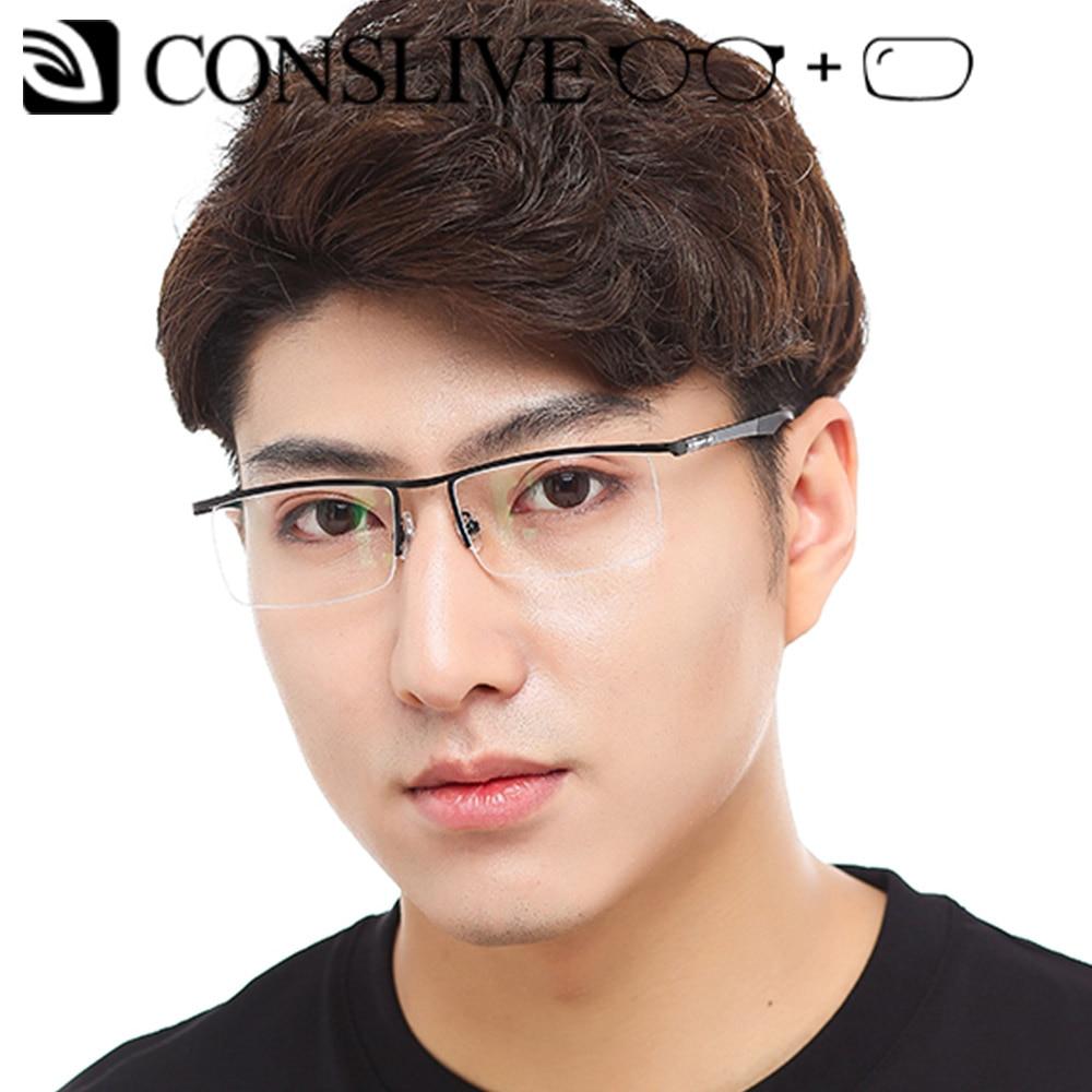 Gafas graduadas de gran tamaño para hombre, gafas Browline para hombre, gafas para miopía, astigmatismo, gafas ópticas grandes, lentes transparentes HJ1806