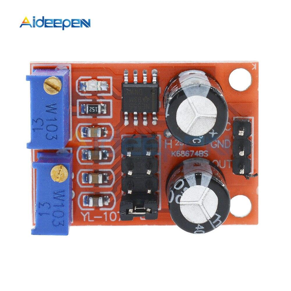 NE555 générateur de Signal donde carrée de Module réglable de Cycle de service de fréquence dimpulsion 10 kHz-200 kHz pilote de moteur pas à pas