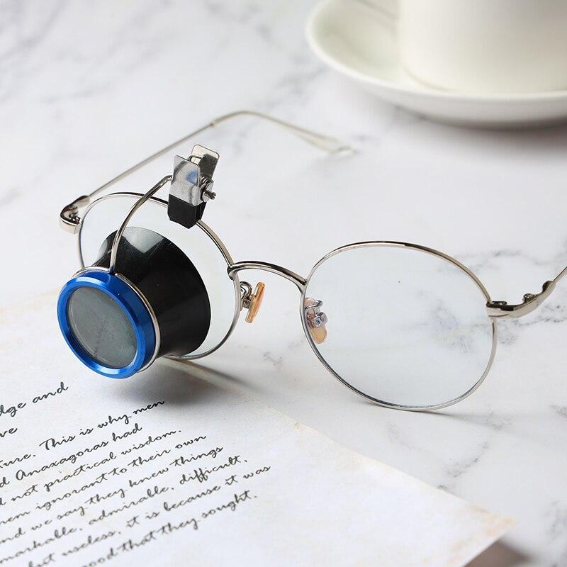 10X Clip en lupa de gafas, herramienta de reparación de relojes, lupas, lupas, lentes de aumento, relojeros, herramientas para joyeros