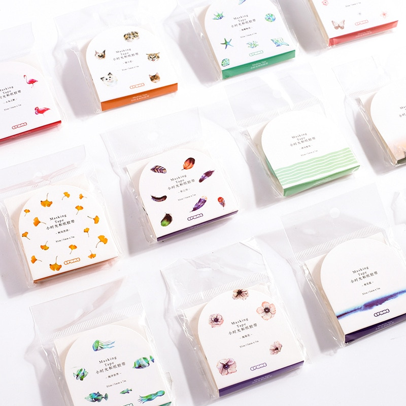 4 unids/lote 7M DIY Cute Kawaii decorativo Scotch pegamento Washi Tape Floral adhesivo cinta adhesiva álbum de recortes
