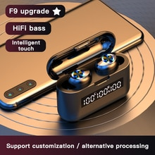TWS 5.0 Wireless Bluetooth Headset Stereo Noise Canceling Headphone With Charging Box LED Earbuds To