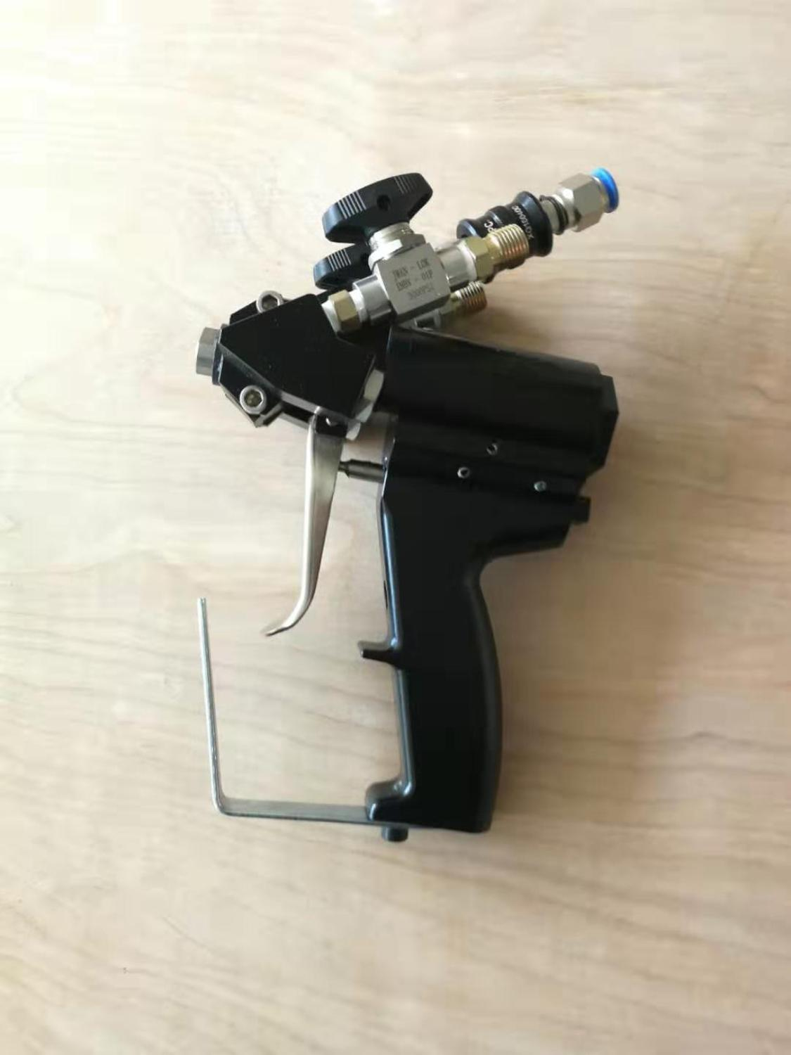P2 PU polyurethane Foam spray gun  with 2nozzles and 3 Orings for sale enlarge