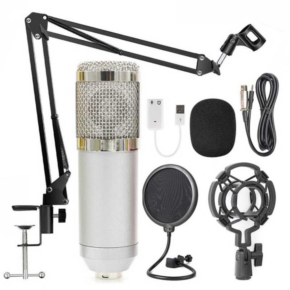 Micrófono Profesional capacitivo para grabación Vocal, micrófono con cable para ordenador, Condensador Profesional, BM-800