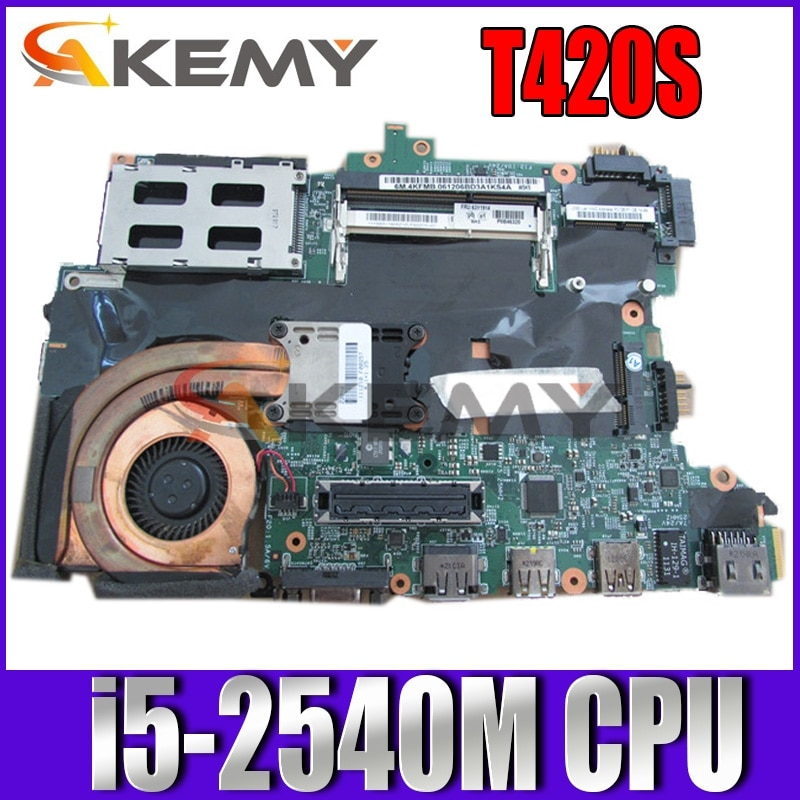 Akemy FRU 63Y1921 63Y1725 H0223-4 48.4KF58.031 اللوحة الأم لأجهزة الكمبيوتر المحمول لينوفو ثينك باد T420S i5-2540M اللوحة الرئيسية مختبرة بالكامل