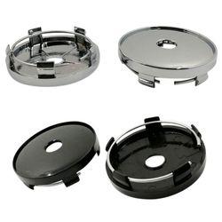 Um conjunto de 60mm universal abs carro auto roda centro hub caps capa de cubo de roda capa de cubo de roda capa poeira cubo de roda novo