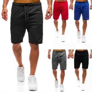 Summer New Men's Sports Pants Running Training Fitness Leisure Five-point Pants Fashion Solid Color Comfortable Gym Shorts Men