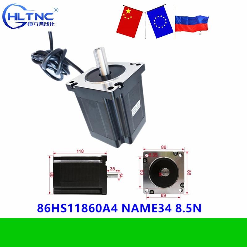 86mm Nema 34 Stepper motor 118 mm körper länge 8,5 N.m drehmoment von China gute qualität