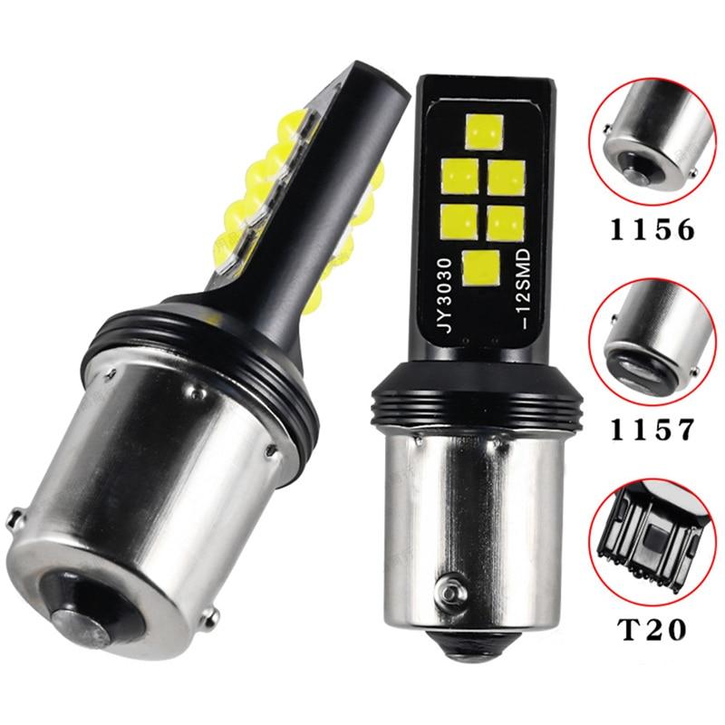 2 pces 1156 p21w ba15s 1157 p21/5w bay15d t20 7440 w21/5w 7443 bau15s chip luz de freio do carro automático bulbo led carro backup lâmpadas