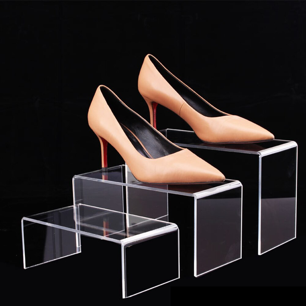 S/M/L Acrylic Transparent U-shaped Display Stand Cosmetics / Nail Polish / Shoes / Bag / Doll Shopping Mall Display Rack