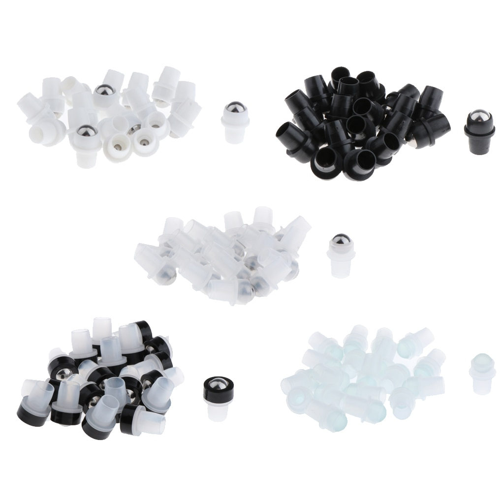 20x Roller Balls with Essential Oils for Glass Gemstone Rolls on Bottles