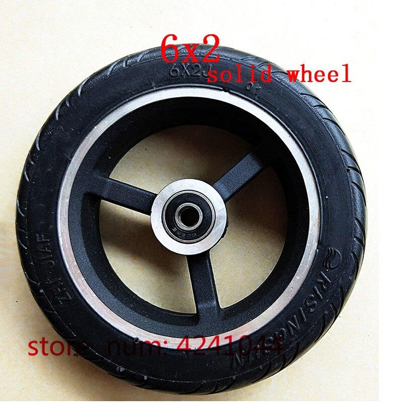 Roues pleines 5 pouces 5.5x2 145x40 6x2 roue rapide F0,jackhot,Nes pneu plein de scooter en fibre de carbone avec jante en alliage