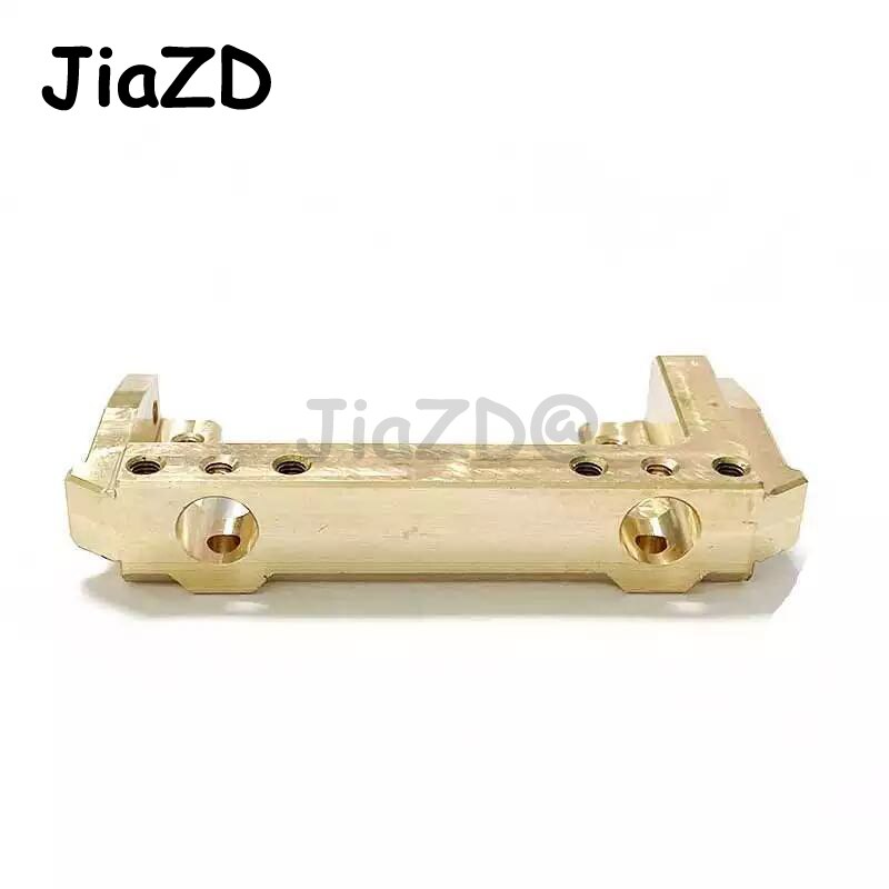 1PCS 85g Brass Front Bumper Mount Servo Stand for 1/10 RC Crawler Axial SCX10 II 90046 Upgrade Parts JiaZD Y90 enlarge