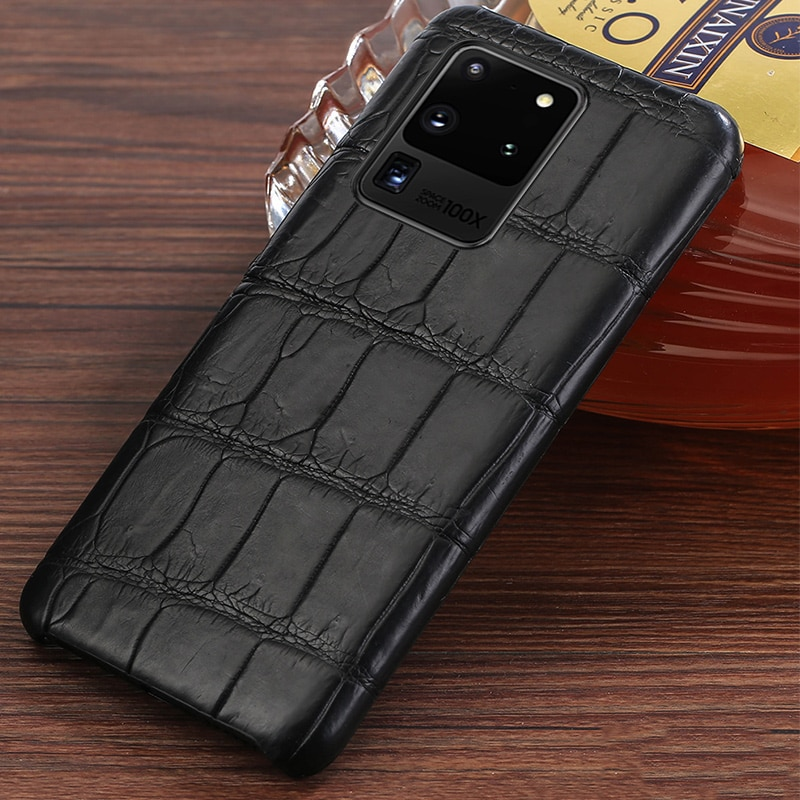 Luxury Original Crocodile Leather case For Samsung Galaxy s20 ultra s21 plus s20 A50 a30s a70 Genuine leather cover Note 10 plus