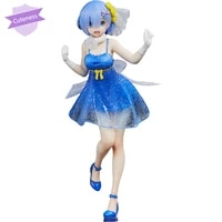 original taito precious re zero starting life in another world rem dress pvc anime colletible model toys anime figure
