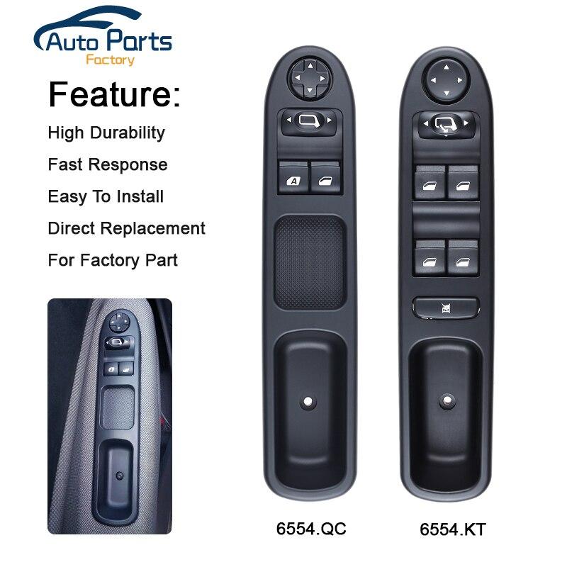 Переключатель управления окном 6554.KT для Peugeot 307 307CC 307SW/6554.QC для Citroen C3 Peugeot 207 CC 6554KT 6554QC