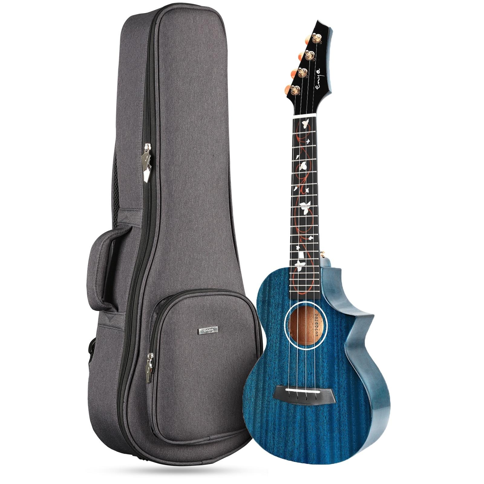 Enya Ukulele Concert Tenor M6 Ukelele High Gloss AAA Solid Mahogany Acoustic String Instruments Hawaii Mini Guitar with Pickup