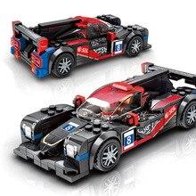 607304 no.38 velocidade campeão carro china jackie chan dc racing team building block puxar para trás veículo racer figuras tijolos brinquedos
