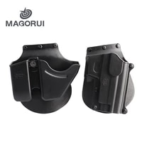 magorui tactical sg21cu9 black handcuff holster pistol holster double stack magazine case pouch for hunting accessories