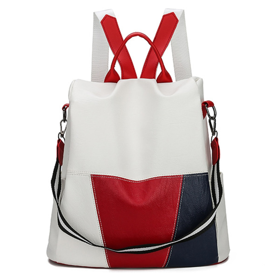 2021 Anti-theft Backpack Women Leather Back Pack Female School Shoulder Bags for Women Travel Bagpack Mochilas Feminina Preppy