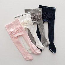 0-4Y Child kids Baby Girl Pantyhose Lace PP Bottom Anti-Slip Tigths  Stockings