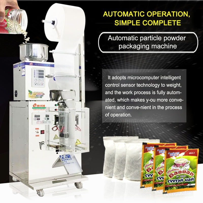 1-50g máquina cuantitativa de sellado máquina de embalaje de bolsas de té máquina de pesaje automático en polvo/relleno de gránulos 110V/220V
