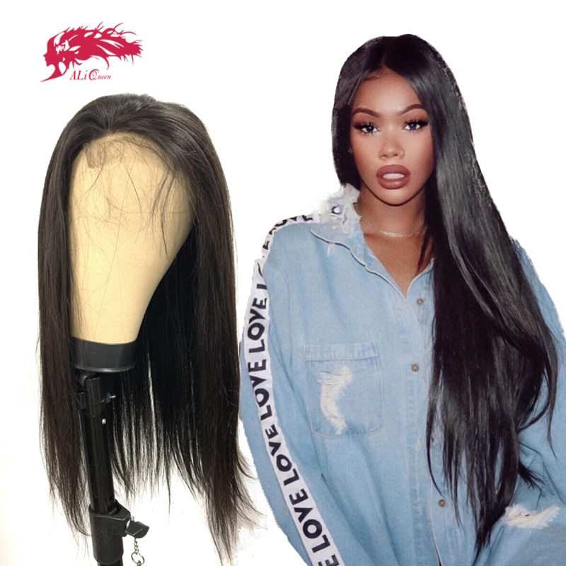 """Straight 4x4/5x5/13x4 Lace Closure Wig Full And Thick 10"""" to 30"""" With Pre-Plucked Hairline Brazilian Straight Custom Lace Wig"""