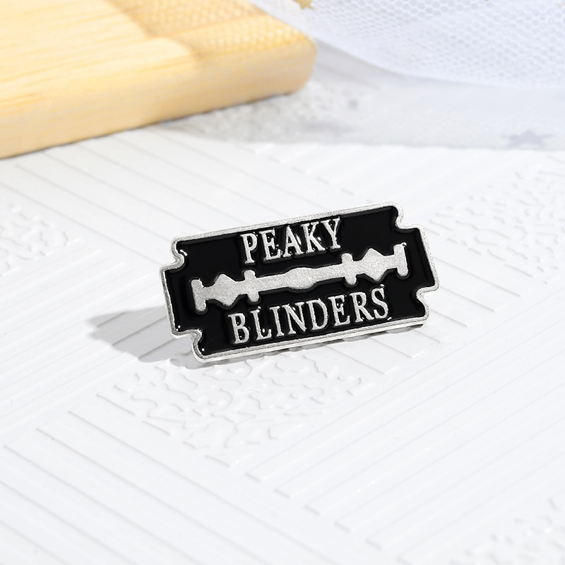 Black Lock Enamel Pin Peaky Blinders Identity Characteristics Outside Clothing Backpack Jewelry Gift