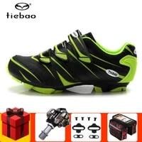 tiebao cycling shoes men sneakers add spd pedal set mountain bike shoes self locking superfiber mtb shoes sapatos de ciclismo