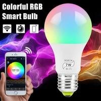 Tuya     ampoule LED intelligente wi-fi  E27  100 240V  7W  rvb  lampe a couleur changeante  Compatible avec application a distance  Alexa  Google Home