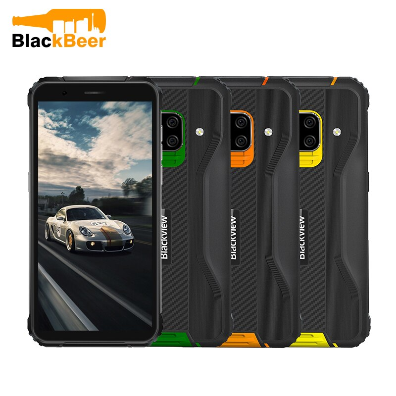 Blackview BV5100 IP68/IP69K Rugged Mobile Phone 5.7 Inch Android 10 Smartphone 4GB 64GB Octa Core 4G Cellphone NFC GPS 5580mAh