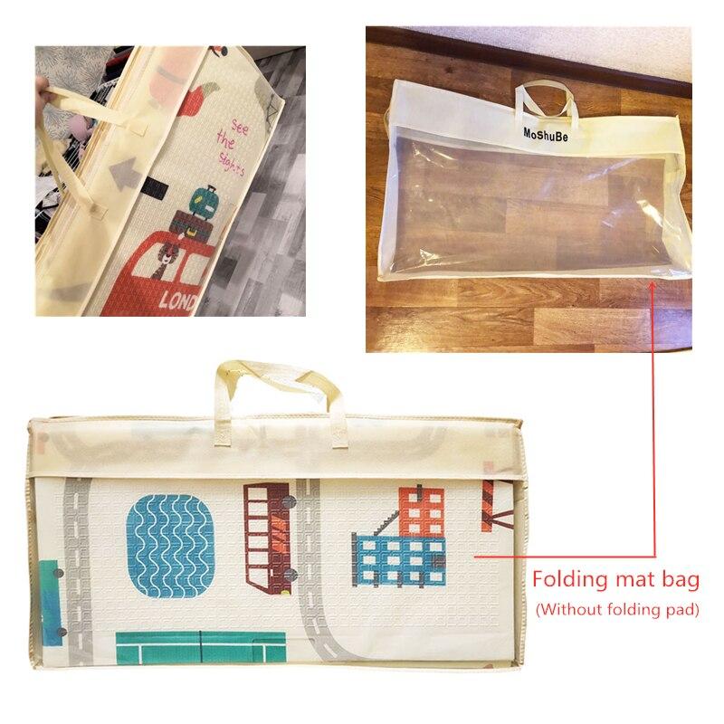 Alfombra de juego portátil plegable para bebé, bolsa con asa para la alfombra de juego para bebé, 1 pieza Paquete de alfombrilla plegable, solo bolsa sin alfombra plegable