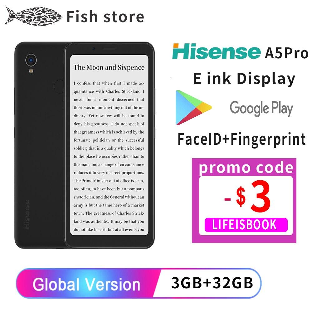 Google play Hisense A5 Pro eink экран дисплея сканер отпечатков пальцев Android 10 5,84 дюйм Электронная книга читать электронные чернила английский смартфон