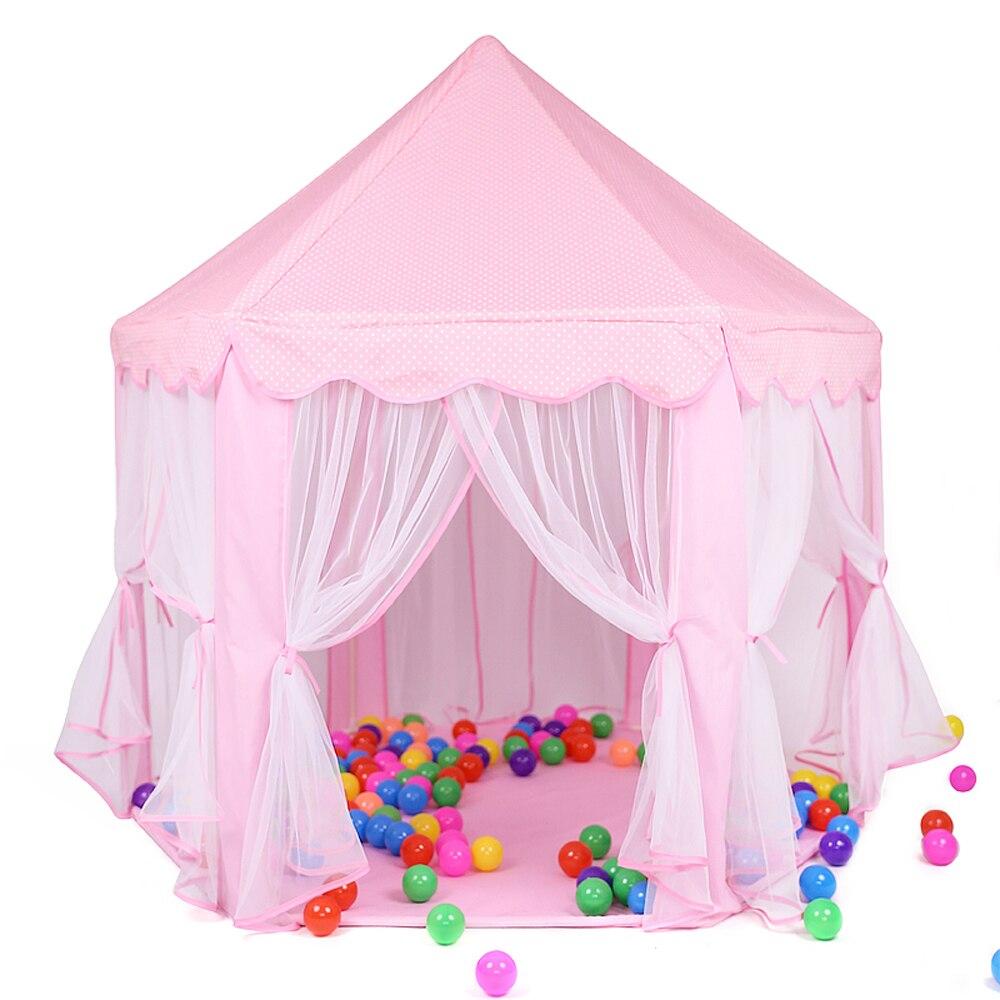 Barraca de castelo da princesa para crianças, portátil, crianças, tenda, brinquedos para meninas, casa infantil, vigilância, tenda, bebê presentes