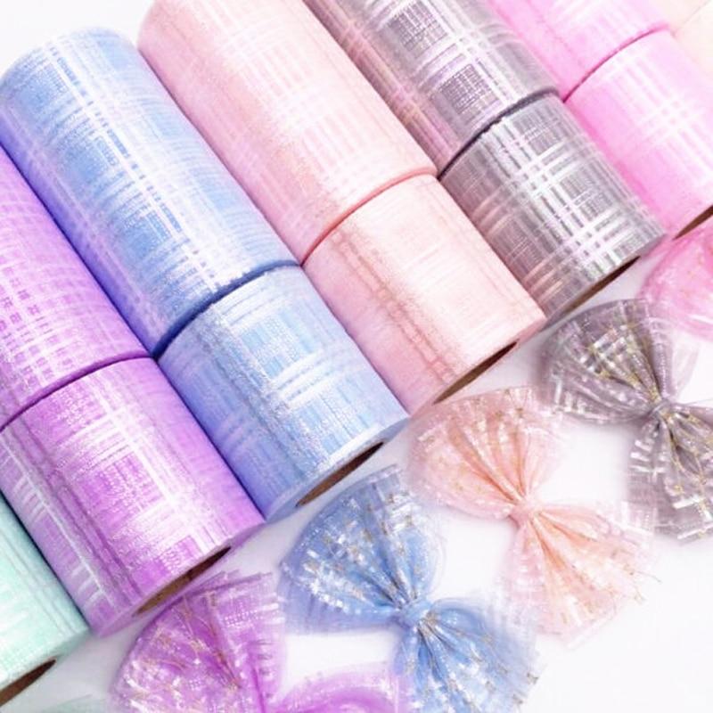 6cm 7,5 cm12cm diamant magie platz mesh band geschenk verpackung bogen kleidung schuhe und hüte handgemachte DIY material kinder der hairpi