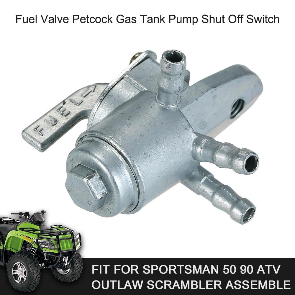 Desligar o Interruptor Da Bomba Tanque de Gás Válvula de combustível Petcock Apto para Desportista 50 90 Outlaw ATV Scrambler Montar Acessórios de ATV