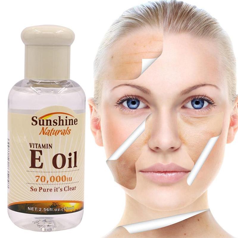 75ml Natural Vitamin E Pure Jojoba Oil Organic Anti Aging Morning and Night Essential Oil Anti Wrinkles Serum