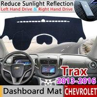 for Chevrolet Trax Tracker Holden 2013 2014 2015 2016 Anti-Slip Mat Dashboard Cover Pad Sunshade Dashmat Carpet Car Accessories