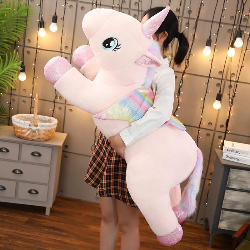 New 1pc 40cm-100cm Cute Rainbow Angel Unicorn Plush Toy Stuffed Lovely Soft Toys for Children Creative Birthday Gift Girls Lover